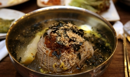Try Korean cold noodles in the summer